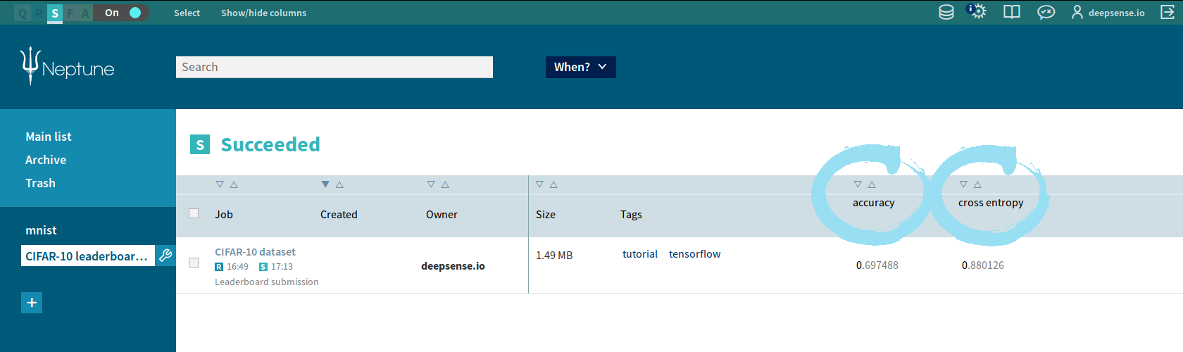 An internal validation leaderboard in Neptune - deepsense ai