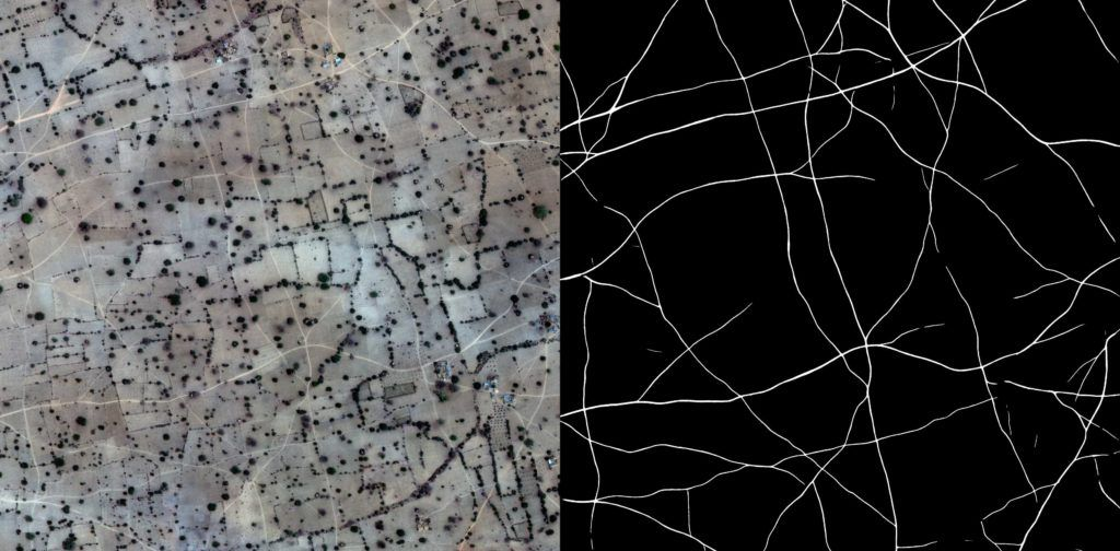 Tracks detection in satellite imagery.